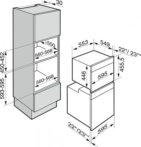 Promoții speciale Cuptor cu aburi DG 6401,75 programe automate