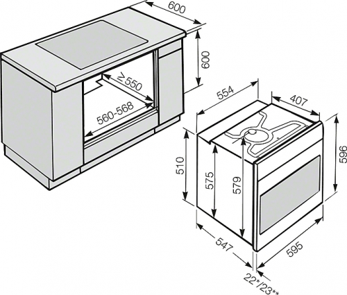 Cuptoare electrice Cuptor electric H 2661-1 B Miele