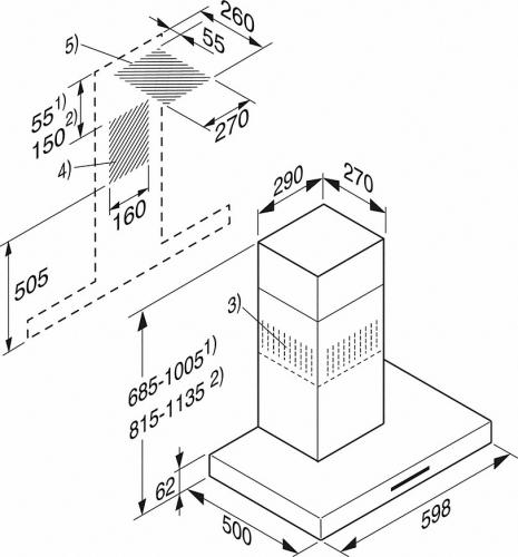 Hote de perete şi pentru insule Hota de perete PUR 68 W Miele