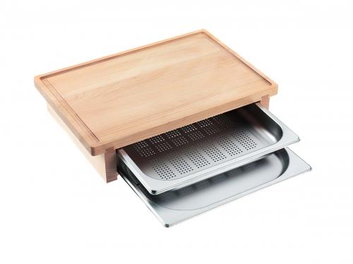 Accesorii pentru plite şi elemente CombiSet Tocător cu 2 recipiente de gătit la aburi DGSB 1