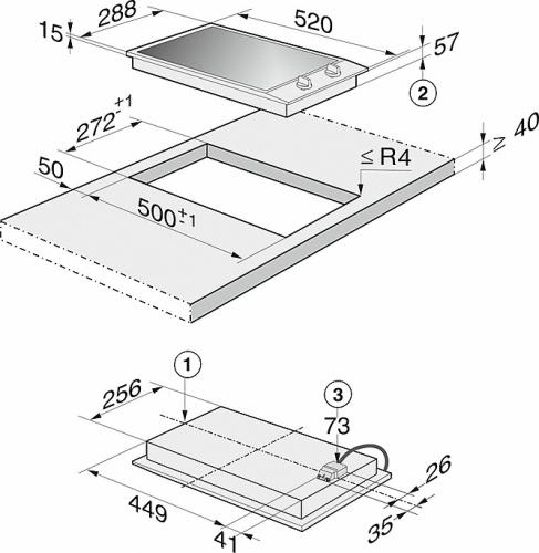 Elemente CombiSet Plita inductie CS 1212-1 I CombiSet