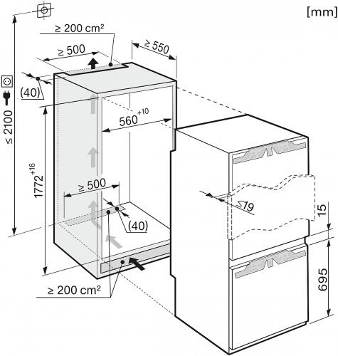 Combine frigorifice Combina frigorifica incorporata KFN 37452 iDE