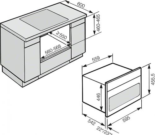 Promoții speciale Cuptor combi cu microunde Miele H 6800 BMX