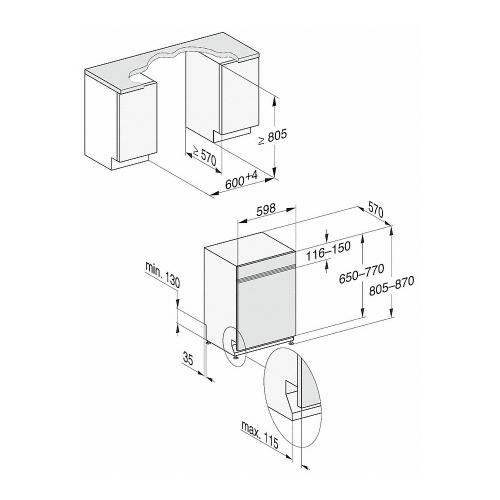 Maşini de spălat vase încorporate Masina de spalat vase G 7310 SCi AutoDos EDST,inox