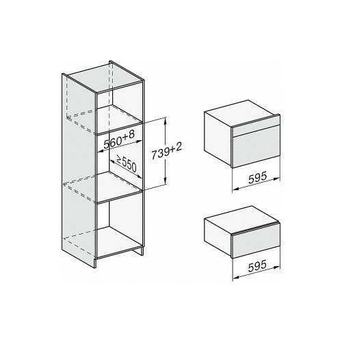 Sertare de încălzire Sertar termic ESW 7020 EDST PureLine Miele